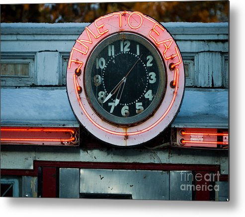 Diner Metal Print featuring the photograph Time To Eat by Edward Fielding