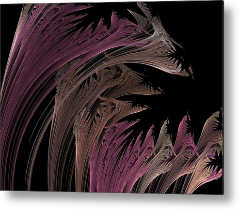 Fractal Flames Metal Print featuring the digital art Tulips by Michele Caporaso