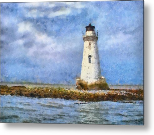 Lighthouse Metal Print featuring the painting Tybee Island Lighthouse by Lynne Jenkins