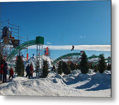 Carnival Metal Print featuring the photograph Winter Fun Quebec City by Donna Sherbert