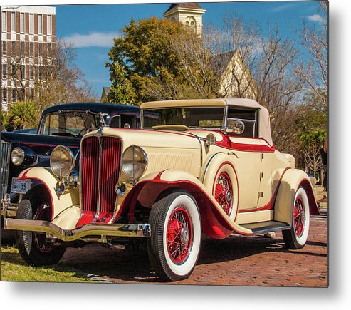 Automobile Metal Print featuring the photograph Antique Automobile by Louis Dallara