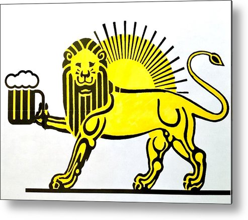 Lion Metal Print featuring the painting Beersia by Joel Tesch