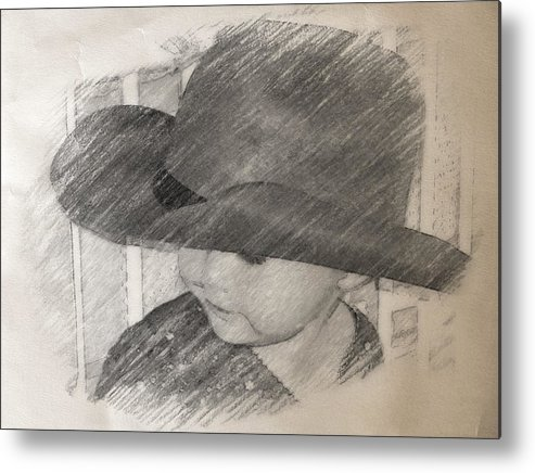 Cowgirl Metal Print featuring the photograph Deep Concentration by Tanya Clark