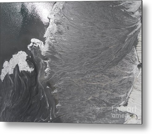 Above Metal Print featuring the photograph Degraded Landscape Minerals Mine In South Of Poland. by Mariusz Prusaczyk