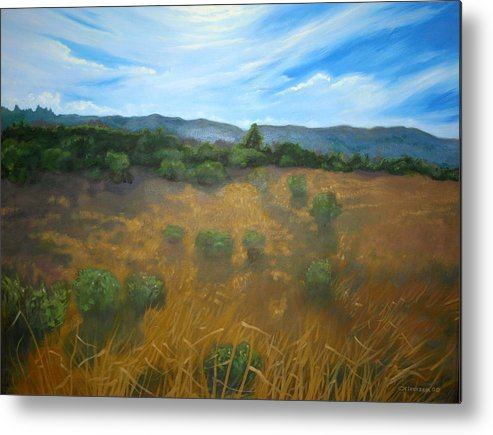 Landscape Metal Print featuring the painting Looking Back To Betteravia by Jill Iversen