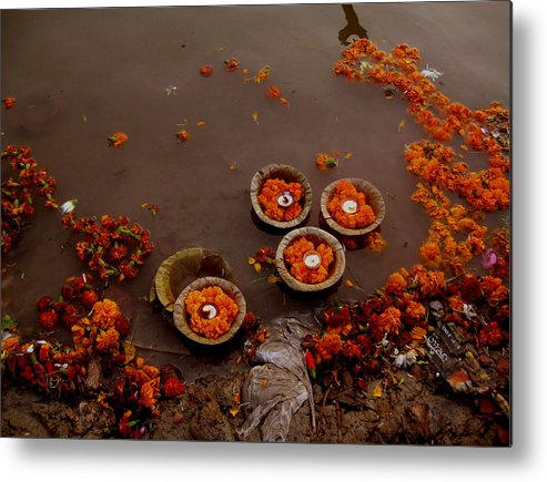India Metal Print featuring the photograph Morning Prayer by Art Nomad Sandra Hansen