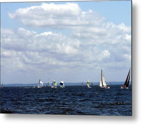 Sailboat Metal Print featuring the photograph Sailing by Kendall Eutemey