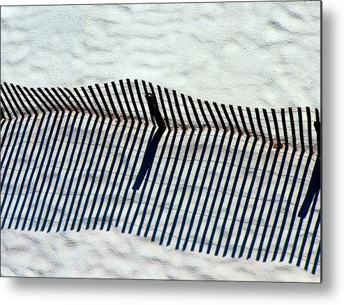 Sand Metal Print featuring the photograph Sandfence by Kenna Westerman