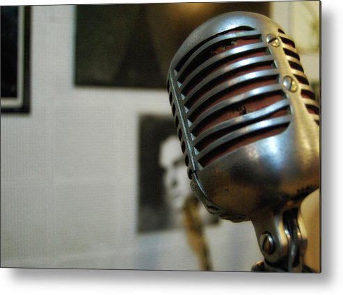 Elvis Metal Print featuring the photograph The Elvis Mic by JAMART Photography