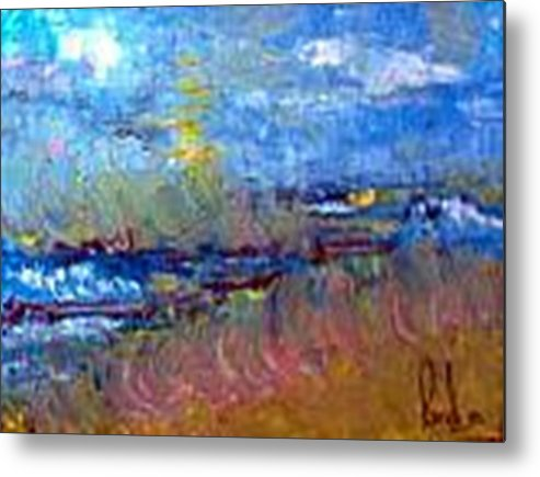 Metal Print featuring the painting The Sea by Carol P Kingsley