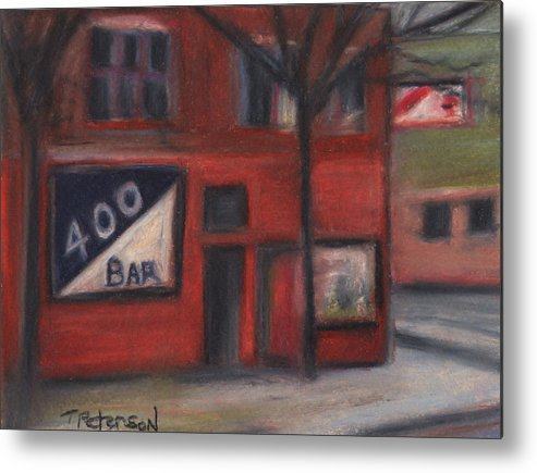 Bar Metal Print featuring the painting 400 Bar Minneapolis by Todd Peterson