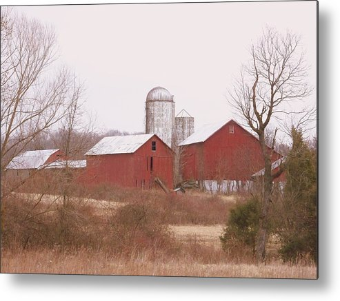 Farms Metal Print featuring the photograph 519 Farm by Amanda Vouglas