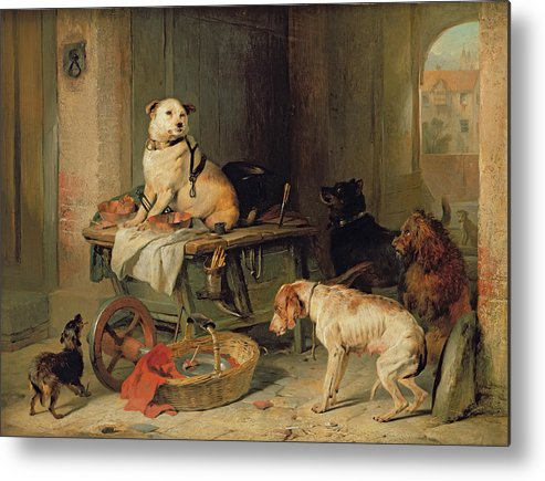 Jack Metal Print featuring the painting A Jack In Office by Sir Edwin Landseer