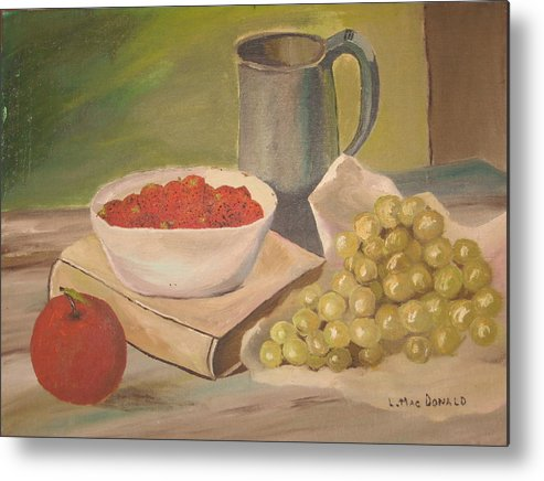Still Life Metal Print featuring the painting A Still Life by L A Raven