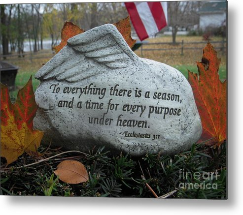 Rock Metal Print featuring the photograph A Time And A Season by Deborah Finley