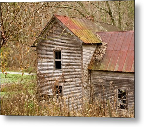 Abandoned Metal Print featuring the photograph Abandoned Farmhouse In Kentucky by Douglas Barnett