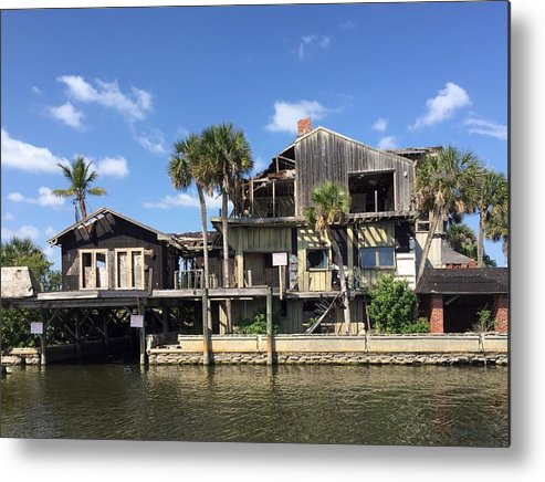 Merritt Island Metal Print featuring the photograph Abandoned Mansion by Anne Sands