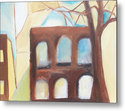 Abstract Metal Print featuring the painting Abandoned by Ron Erickson