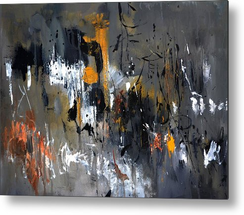 Abstract Metal Print featuring the painting Abstract 5470401 by Pol Ledent