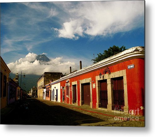 Bareri Metal Print featuring the photograph Agua Looking Over Antigua by Valerie Rosen