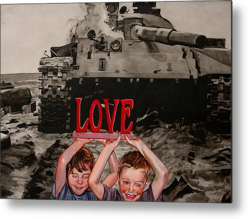Political Metal Print featuring the painting All You Need Is... by Valerie Patterson