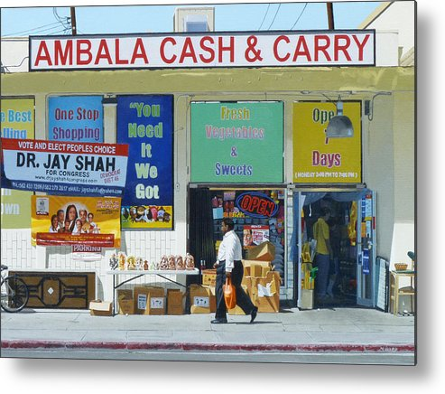 Ambala Metal Print featuring the painting Ambala Cash And Carry by Michael Ward