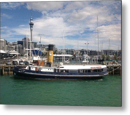 New Zealand Metal Print featuring the digital art Auckland Harbour by D Scott Fern
