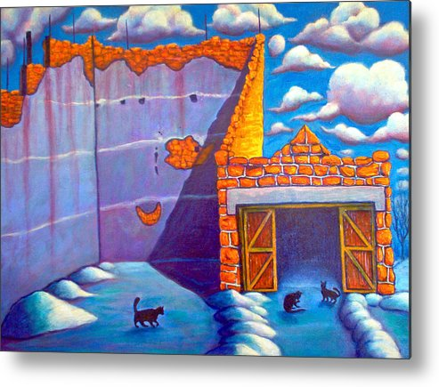 Historic Metal Print featuring the painting Basque Ball Court by Steve Lawton