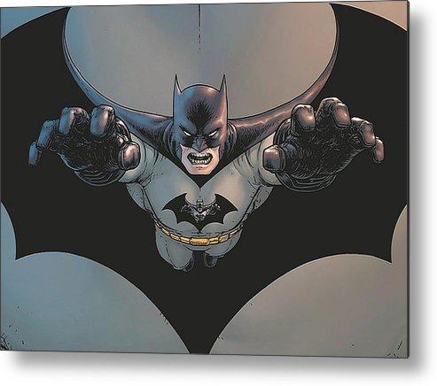 Batman Incorporated Metal Print featuring the digital art Batman Incorporated by Dorothy Binder