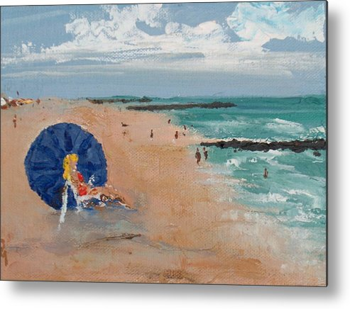 Ocean Metal Print featuring the painting Beach Blond by Pete Maier