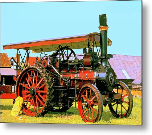 Big Steamer Metal Print featuring the mixed media Big Steamer by Dominic Piperata