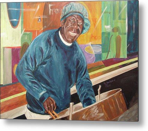 Kevin Callahan Metal Print featuring the painting Bing Bang Broadway Blues by Kevin Callahan