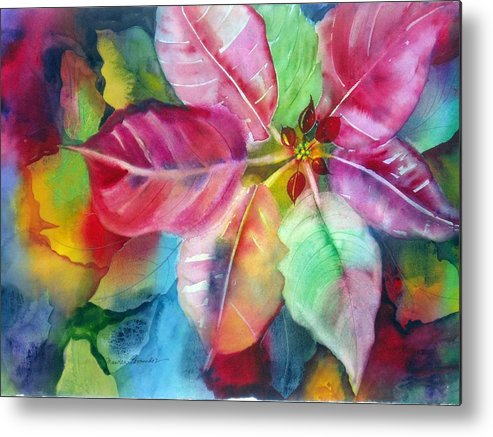 Flower Metal Print featuring the painting Bold Bloom by Maritza Bermudez