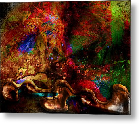 Abstract Metal Print featuring the digital art Brainstorm by Jill Harrington