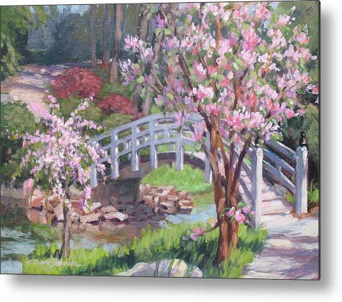 Sarah Duke Garden Metal Print featuring the painting Breath Of Spring by L Diane Johnson