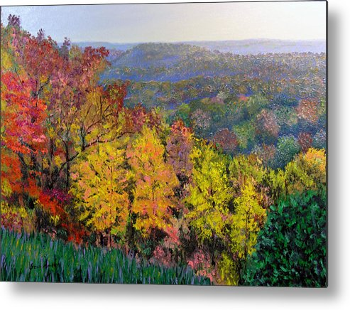 Fall Metal Print featuring the painting Brown County Vista by Stan Hamilton