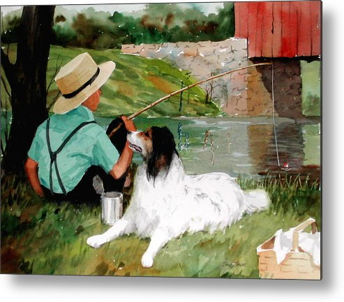 Amish Metal Print featuring the painting Buddies by Faye Ziegler