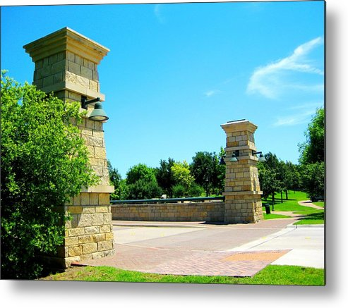 Metal Print featuring the photograph By The Park by Diana Moya