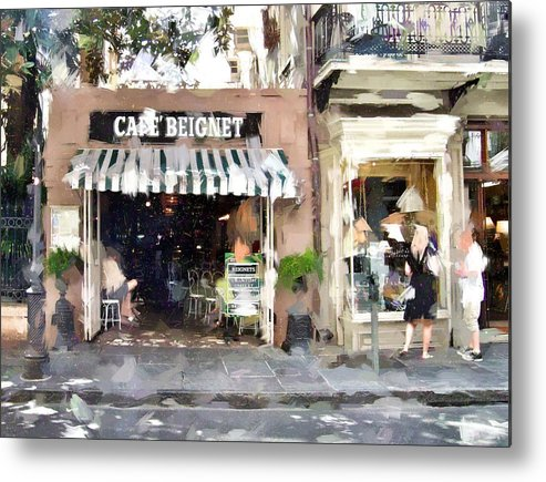 Cafe Metal Print featuring the photograph Cafe Beignet Summer Day by Scott Crump