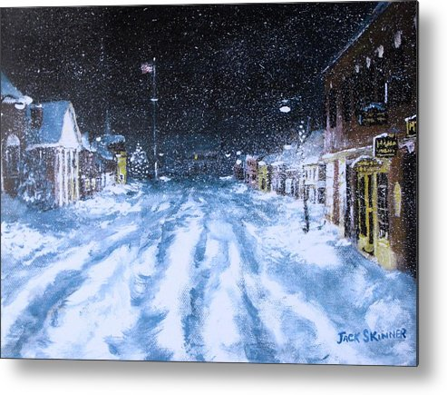 Snow Metal Print featuring the painting Call Out The Plows by Jack Skinner