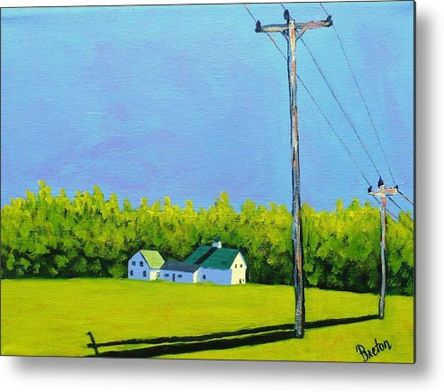 Landscape Metal Print featuring the painting Canton Morning by Laurie Breton