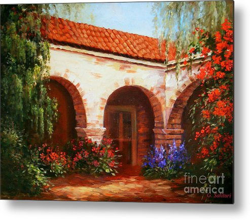 Landscape Metal Print featuring the painting Capistrano by Gail Salitui