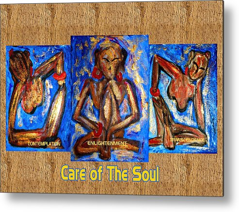 Soul Metal Print featuring the painting Care Of The Soul by Donna Proctor