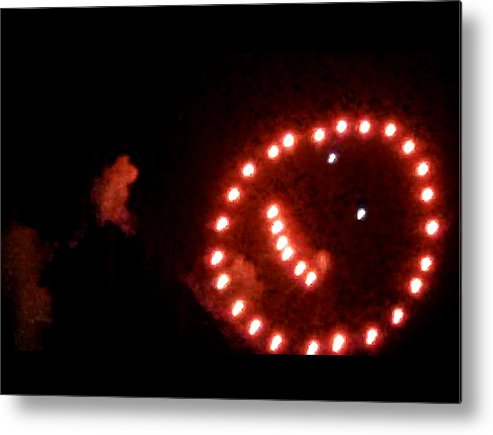 Metal Print featuring the digital art Carnival Smiley Face by Robert aka Bobby Ray Howle