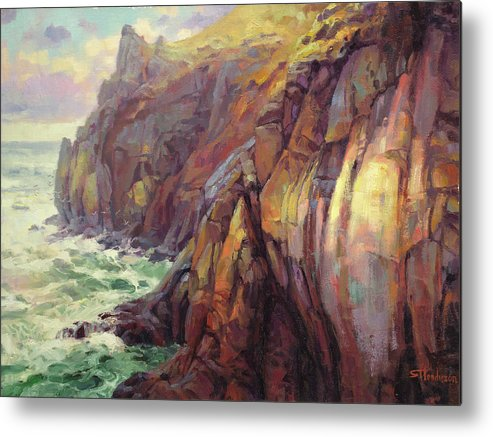 Sea Metal Print featuring the painting Cascade Head by Steve Henderson