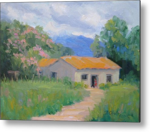 Honduras Metal Print featuring the painting Casita De Campo by Bunny Oliver