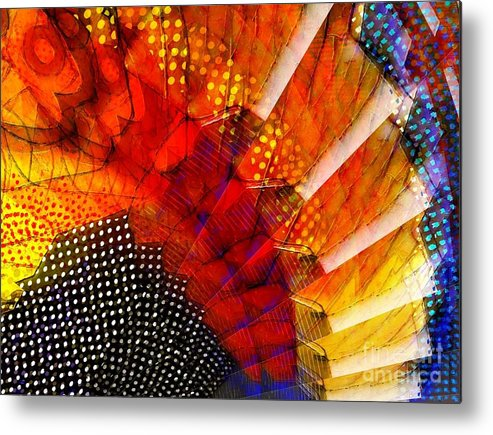 Abstract Metal Print featuring the digital art Celebrate by Cooky Goldblatt