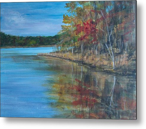 Fall Metal Print featuring the painting Channings Lake by Pete Maier
