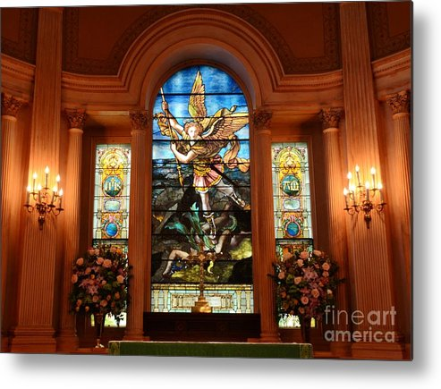 Stained Metal Print featuring the photograph Charleston Church by Kathleen Struckle