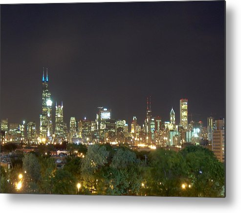 Chicago Metal Print featuring the photograph Chicago From Comiskey by Jacob Stempky